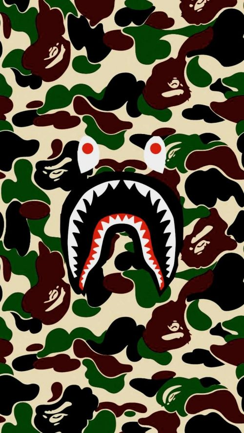 Background Blue Bape Wallpaper