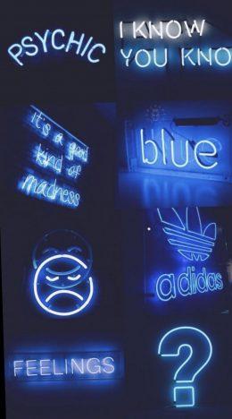 Neon Blue Aesthetic Wallpaper